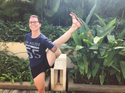 birds of paradise; yoga